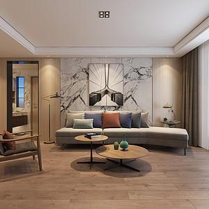财信圣堤亚纳现代简约风格120平米平层