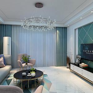 客厅茶几:简单、清新、明亮的颜色突出整个空间的出勃勃的生机。