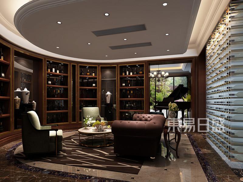 安吉玫瑰园法式风格会客厅效果图