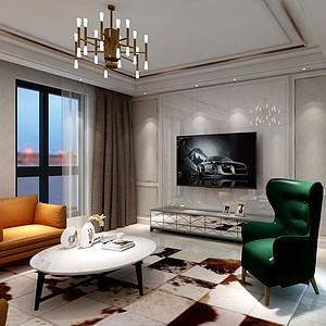 欧香小镇220㎡三居室新古典风格