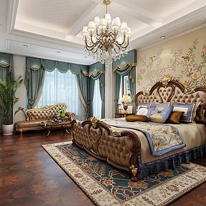 美式乡村-卧室