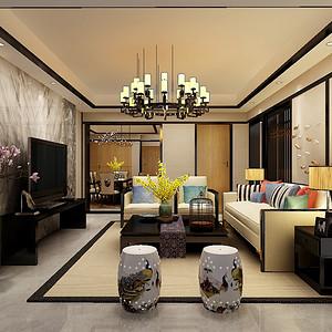 观澜国际新中式风格120㎡现代与古典结合设计