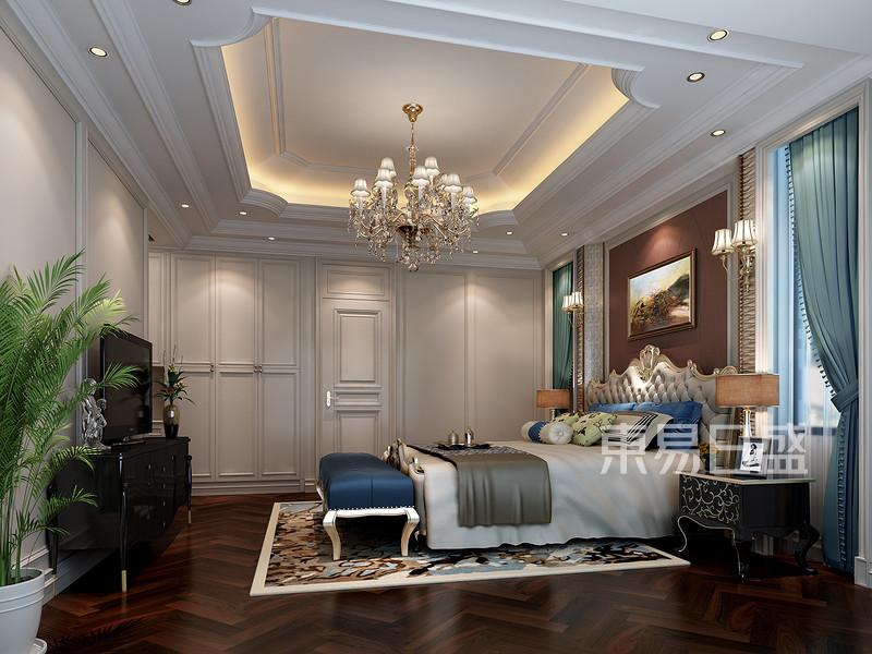 安吉玫瑰园法式风格卧室效果图