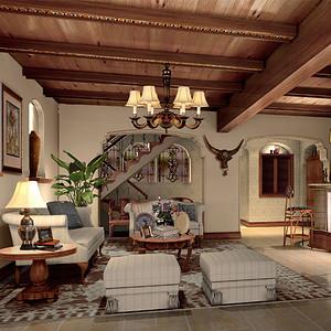 别墅地下室客厅装修效果图-欧式古典其他装修效果图 欧式古典其他装