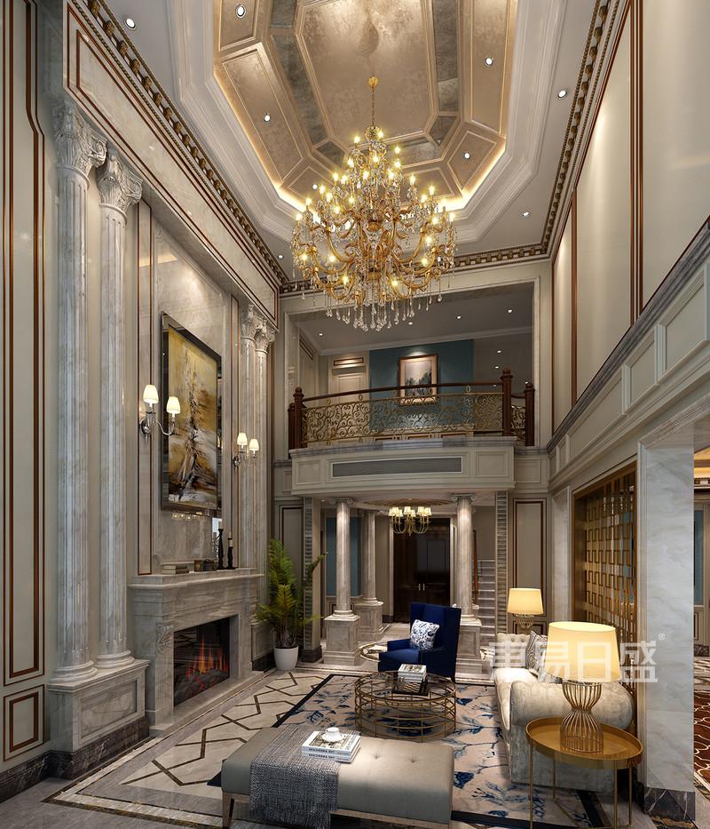 安吉玫瑰园法式风格客厅效果图