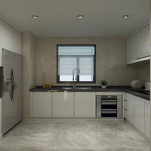 休闲中式风格-厨房-装修效果图