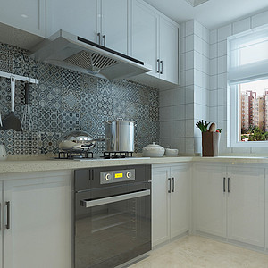 简美风格-厨房-装修效果图