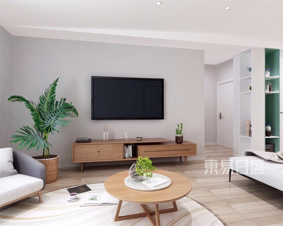 四居室-北欧-客厅电视背景墙-效果图