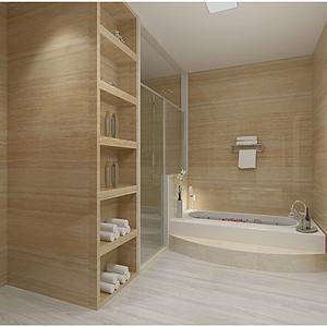 华纳豪园现代风格卫生间装修效果图