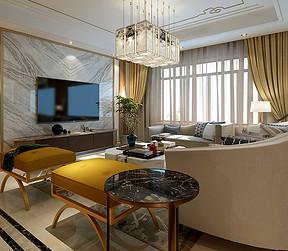 中国玺-现代中式风格-客厅