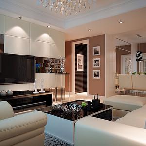 南山意境 现代简约装修效果图 121平方三室两厅