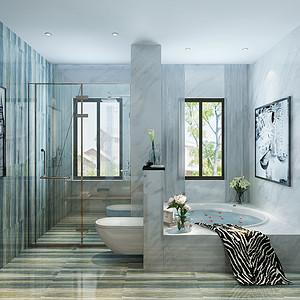 二居室-现代简约-卫生间
