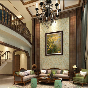 现代美式-客厅
