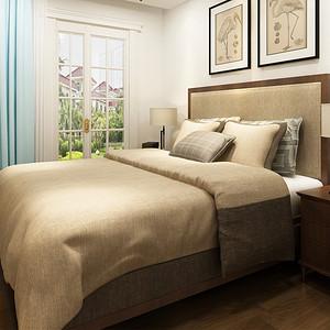次卧以浅色系为主导有效地扩大了空间感