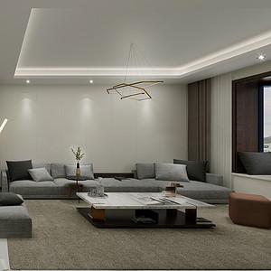 二居室-现代简约-客厅
