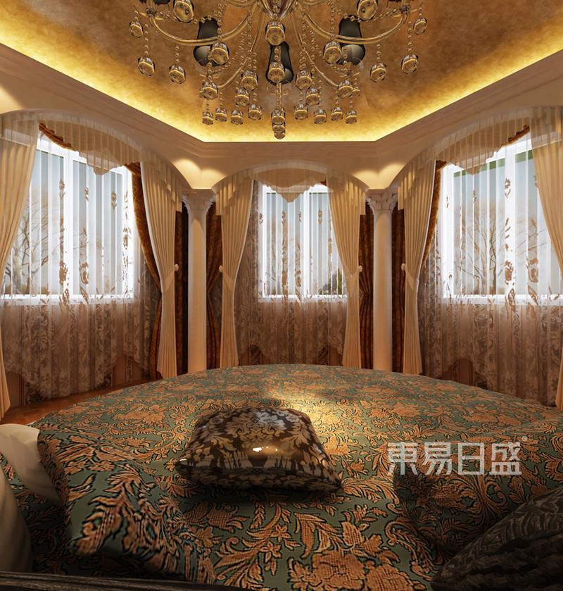 欧式古典 - 主卧效果图:主卧奢华的圆床,洛可可式图片