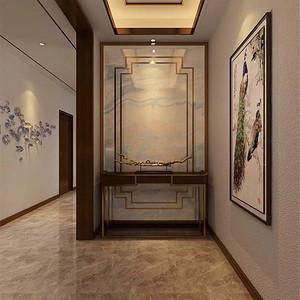 普通住宅-新中式-玄关-效果图