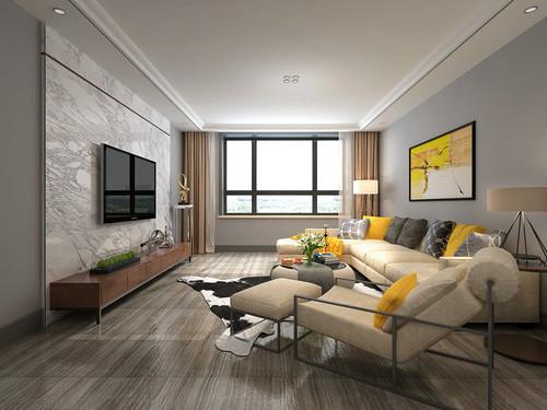 华润悦府153平米三居室现代设计风格