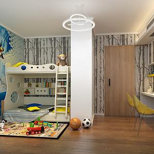 儿童房现代简约装修效果图