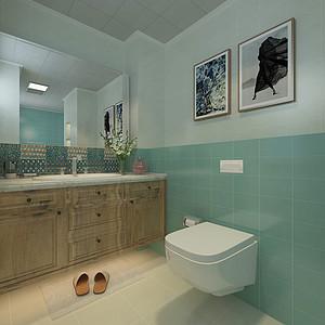 简美风格-卫生间-装修效果图