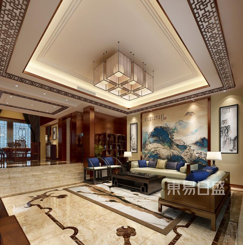 新中式 - 别墅新中式风格客厅装修效果图
