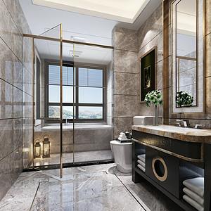卫生间浴室柜加入现代风格