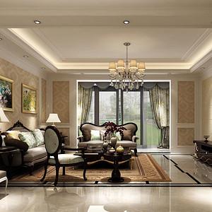 都铎城邦 欧式古典风格装修效果图 普通住宅 150㎡