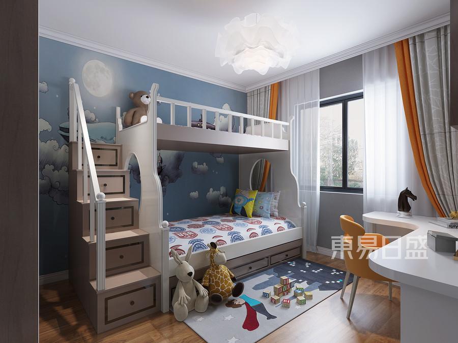 省政府大院现代简约风格儿童房装修案例效果图