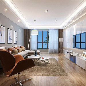 莱安逸辉 极简主义风格 四室两厅 220㎡
