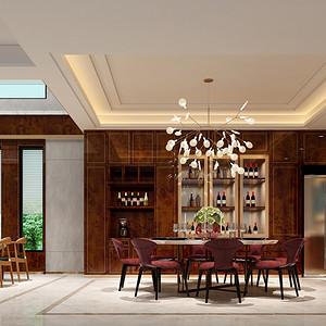 香山美墅 现代风格 餐厅装修效果图