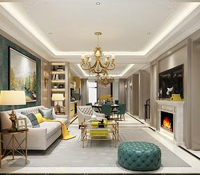 中信墅-美式现代-客厅