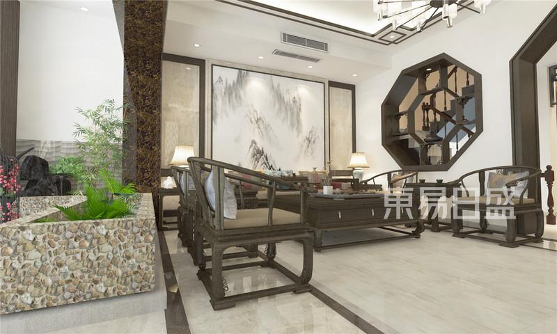 新中式 - 艾维诺森林中式风格客厅装修效果图