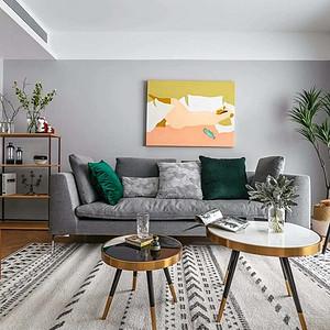 富瑰园-北欧风格-客厅装修效果图