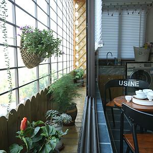 禹州城上城-简约美式-阳台实景