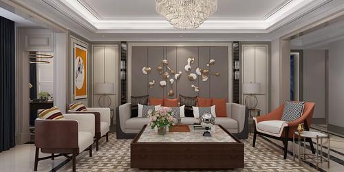 天玺台 法式轻奢装修效果图 四室两厅 248平米