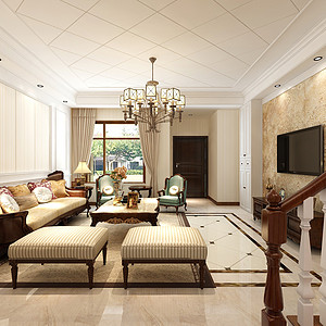 宜禾一墅-美式风格-150平米