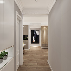 现代简约风格-门厅-装修效果图