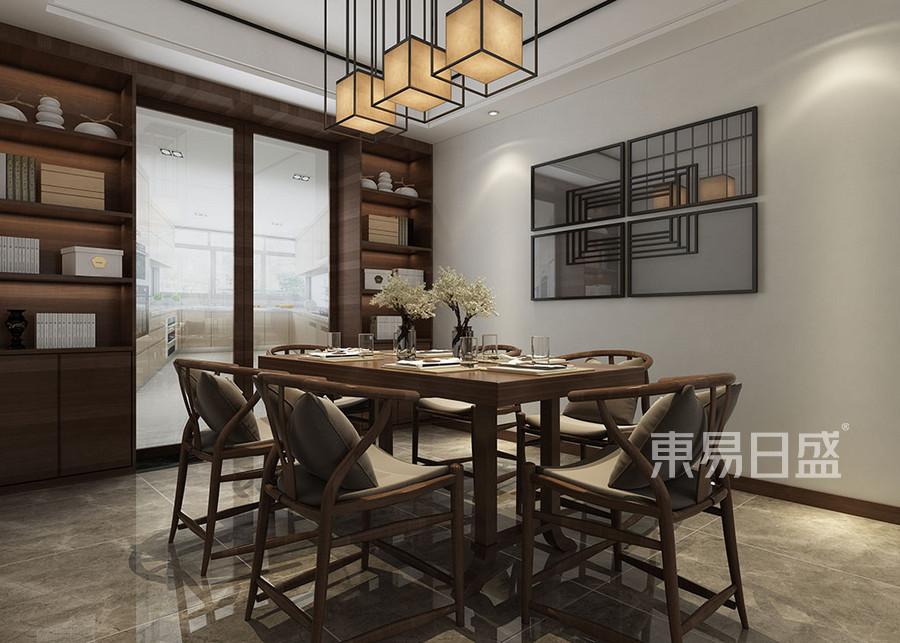 餐厅中式的情韵在餐厅与厨房悄然隐匿 西安别墅装修公司东易日盛怎么样?http://xa.dyrs.c