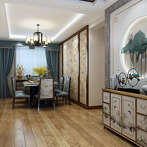 中式风格-餐厅-装修效果图