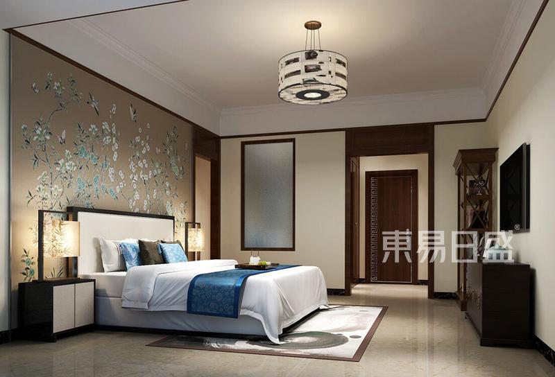 卧室新中式装修效果图效果图 装修效果图大全2018图片 1007822 东易