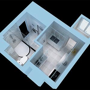 大龙公寓 现代简约 卫生间装饰