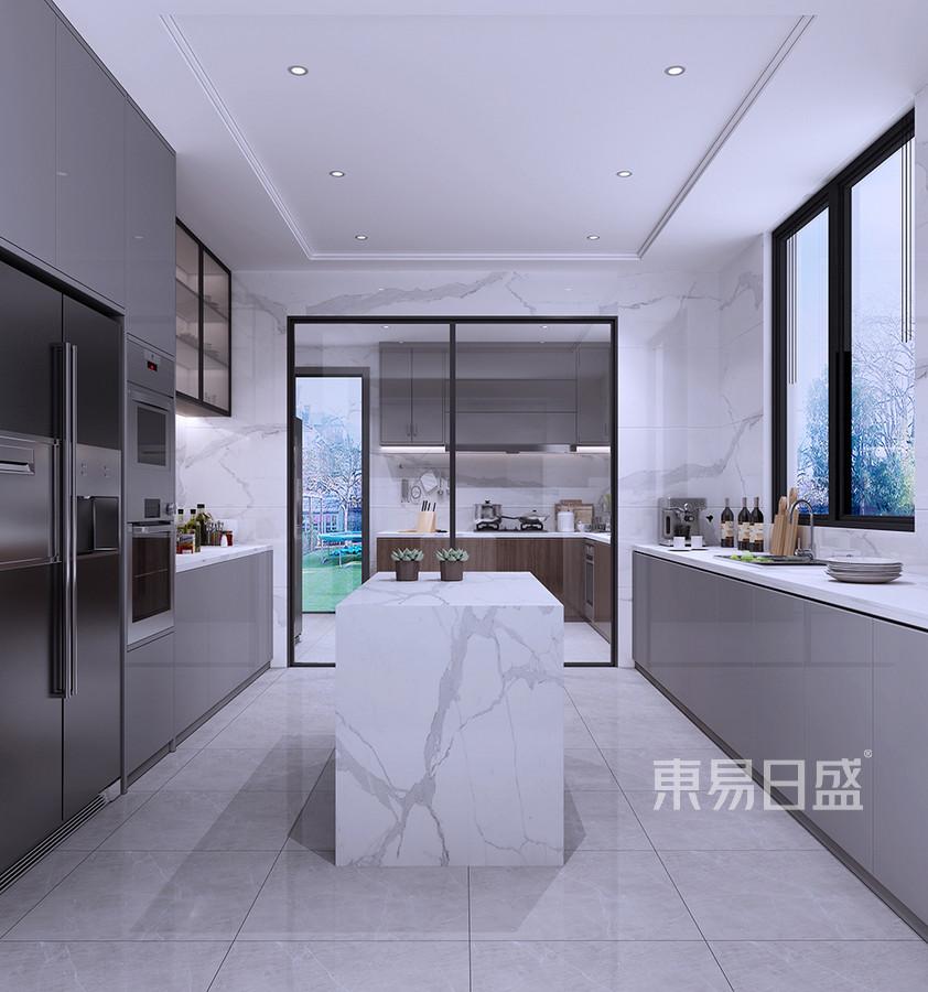 石碣东河花园现代简约厨房装修效果图