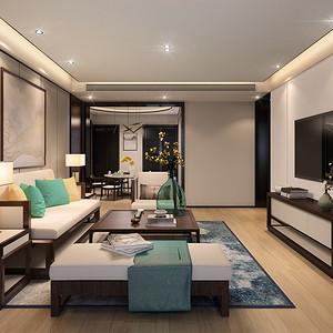 百旺茉莉园-新中式装修风格-169平米
