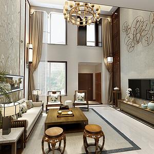 宜禾一墅-中式风格-150平米