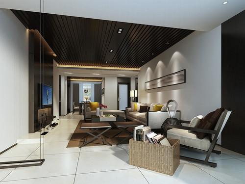 怡景溪园-新中式装修风格-118平米装修设计理念