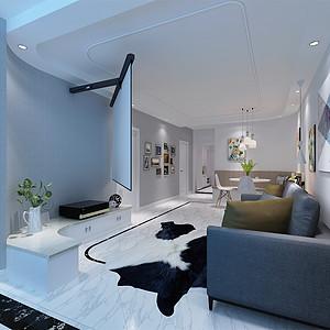 大龙公寓 现代简约 客厅装饰