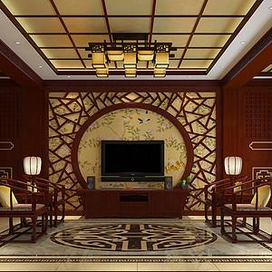 龙湖双珑原著-中式风格-500平