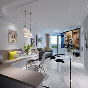 大龙公寓 现代简约 76平米