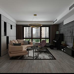 天山九峯160平四室二厅现代风格装修案例