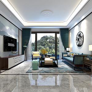 东城天骄御峰装修案例-140㎡新中式四房二厅装修效果图